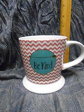 "Coffee Mug ""BE KIND""  Cup Stripes Clay Art"