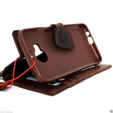 genuine leather Case for Htc One m9 plus book wallet magnet cover thin brown new