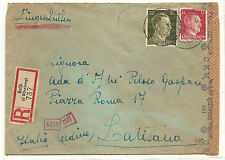 Italy Italian Worker In Germany To Udine Registered  Censored WW II  1942