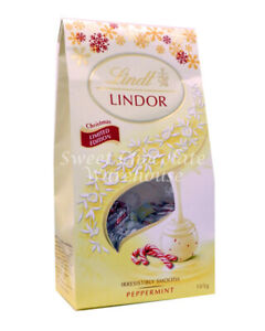 Lindt Lindor White Peppermint Pouch Bag 105g