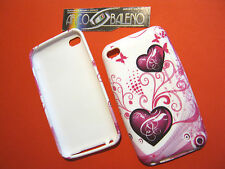 CUSTODIA COVER IN SILICONE TPU PER APPLE IPOD TOUCH 4° CUORI ROSA PINK HEART