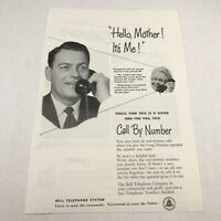 Vtg 1953 Print S Bell Telephone Call By Number Advertising Art