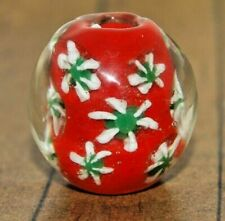Vintage Fine Murano Lampwork Glass Focal Bead - Collectible - 3/4 inch - A1075a+