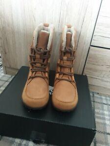 Sorel Meadow Lace Premium Walking Trekking Rain Boots size 5.5 new Elk Colour