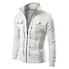 Motorcycle Style Punk Mens Stand Collar Jacket Coat Slim Warm Jackets Blazer Hot