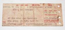 U2 - Mtv Presents - Concert Ticket Stub - The Omni Atlanta, Ga - 4/29/85 Seat 5