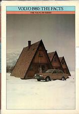 Volvo 200-Series 1979-80 UK Market Fact File Brochure 244 245 264 265 262