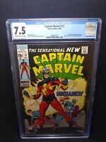 Cgc Graded Marvel Comics Captain Marvel 1969 #17 Key Issue