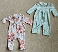janie and jack baby girl 0-3 Months outfits Lot Of 2! Good Condition!