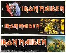 Iron Maiden Trooper Piece Of Mind Purgatory Bumper Sticker Vintage 1980's Lot 3