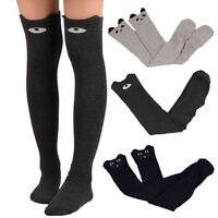 Fashion Women Stocking Cat Catoon Winter Autumn Long Socks Over Knee Thigh-Highs