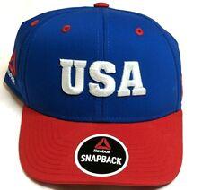 USA UFC MMA Baseball Hat Cap Reebok Red White Blue United States Pride Snapback