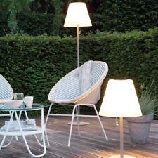 LED Solar Gartenlampe Tischlampe Kunststoffschirm weiß 68 - 158 cm IP 44 Outdoor