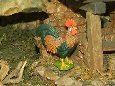 """Rooster Figurine for 5"""" Nativity Scene Presepio Pesebre Gallo Farm Diorama"""