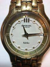 14k Gold Raymond Weil Wrist Watch 70.8g Sapphire Crystal Swiss Made EP