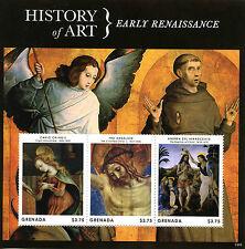 Grenada 2013 MNH History of Art Renaissance Crivelli Fra Angelico 3v M/S Stamps