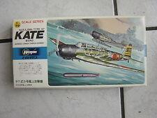 Hasegawa- Flugzeugbausatz 1/72  im Karton- -ovp..Nakajima Type 97 Kate