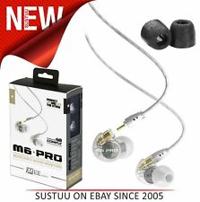 MEE Audio M6 PRO Earphones│Replaceable Cable│Universal Control│Microphone│Clear│