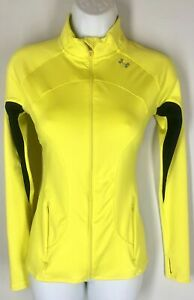UNDER ARMOUR Yellow Navy Full Zipper Closure Front Jacket Athleisure XS