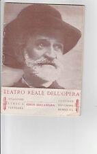 TEATRO,GIUSEPPE VERDI,FASCISMO 1941 PROGRAMMA TEATRO REALE OPERA, OTTIMO STATO