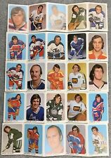 1973-74 Quaker Oats WHA hockey card set of 50 (10 panels of 5 cards) FREE SHIP!!