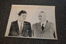 ORIGINAL UPI  BACK-STAMPED PRESS PHOTO JFK & MACMILLAN ENGLAND TRIP JUNE 1963