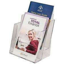 6 Inch Wide Clear Acrylic 2-Tier Brochure Holder Lot of 12 Ds-Lhf-S112-12