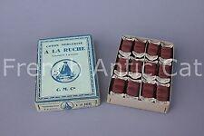 R1354 Mercerie boite fils coton mercerisé 12 tourniquets  A LA RUCHE bordeaux