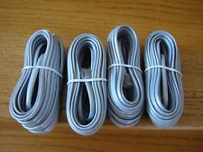 Lot of 4 Telephone Cords 25 FT RJ12 SILVER SATIN LINE CORDs New