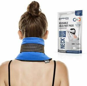 Heated Neck Ice Wrap, Neck Pain Relief & Stress - Reusable Microwave Neck Warmer