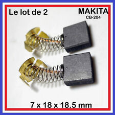 Le lot de 2 charbons 7 x 18 x 18.5 mm Makita CB-204 / 191957-7 / CB206