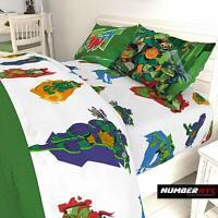 TMNT 3 Piece Microfiber Twin Bedding Sheet Set Pillowcase Kids Teens Children
