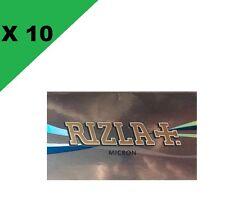 Rizla courte double micron lot de 10 carnets de 100 petites feuilles à rouler