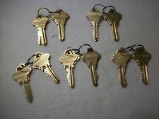 Locksmith LOT 5 Sets of 4 Schlage SC1 Set Up Keys, GMS, 20 Keys Total