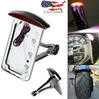License Plate Holder Bracket Light for Harley Davidson Softail Heritage Fatboy