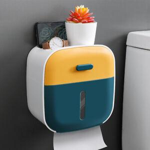 Bathroom Tissue Box Toilet Paper Holder Organizer Storage Phone Holder Press F1