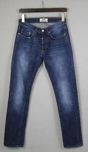 ACNE STUDIOS ROC VERAKAI Men's W30/L32 Faded Effect Blue Jeans 19045_JS