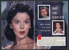 1958 TV ARTICLE~SHIRLEY TEMPLE 20 YEARS AFTER~CHILD STAR~ATHERTON,CA HOUSEWIFE