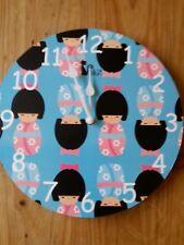 Horloge japonais Horloge Murale 12 in (environ 30.48 cm) Boxed Idéal Pour Enfants Chambre à Coucher Ou Nursery