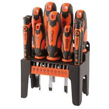 Draper 29886 Orange 21 Piece Screwdriver & Bit Set With Storage Stand New