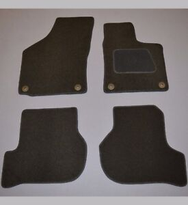 VW Golf MK5 MK6 Tailored Fitted Soft Carpet Floor Mats With Rubber Backing