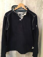 Lazy Jacks, Size M, Navy Blue & White Cotton Sweatshirt