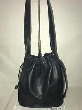 Vintage Coach 4180 Black Glove Leather Drawstring Bucket Shoulder Bag Italy