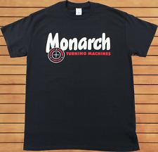 Monarch Lathe T Shirt Rare Vintage Machine Tool Logo Gildan Black