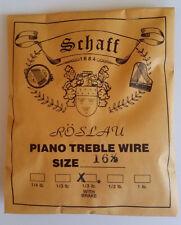 Schaff Roslau Piano Music Treble Wire Size 16-1/2 .038 1/3 Lb Coil 86' w Brake