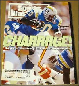 10/17/1994 Sports Illustrated Natrone Means San Diego Chargers Tiger Woods Levy