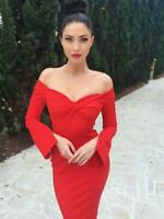 SHEIKE | Womens Millenium Long Sleeves Red Dress  [ Size AU 6 or US 2]