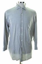 polo ralph lauren herren hemd gr. 44/46 17 1/2 xl grau kariert baumwolle
