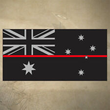 AUSTRALIAN THIN RED LINE FLAG DECAL | STICKER | 100mm x 50mm | FIREFIGHTER | EMS