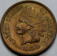 1895 Indian Head Cent Superb Gem BU MS++RB! 1895/895 Bold RPD! Nice & Original!!
